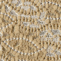 Ivory guipure chemical lace fabric gold leaf
