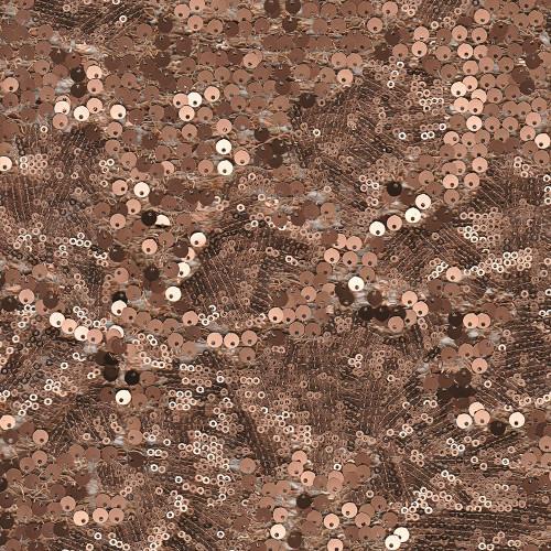 Tissu paillettes arabesque cuivre
