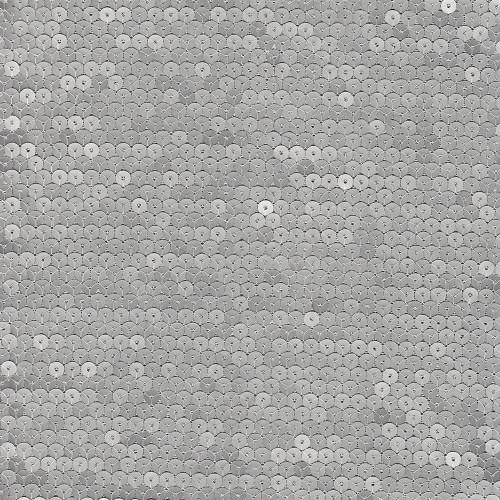 Tissu paillettes cousues sur double tulle argent