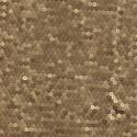 Tissu paillettes cousues sur double tulle or