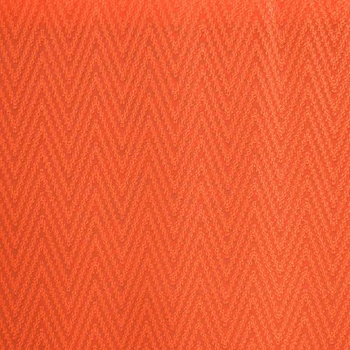 Tissu voile 100% polyester zigzag chevron orange