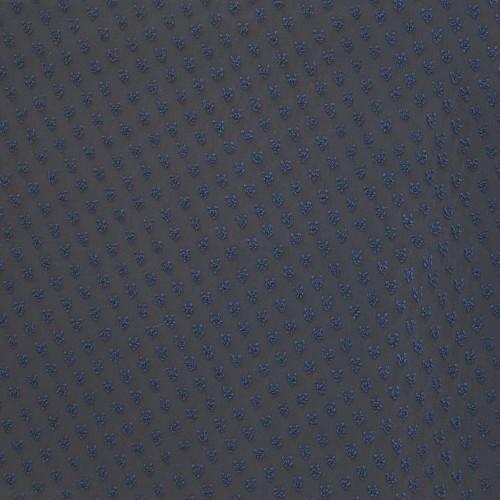 Tissu voile 100% polyester plumetis bleu marine