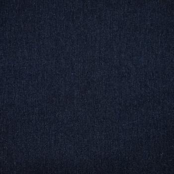 Dark blue stretch denim fabric