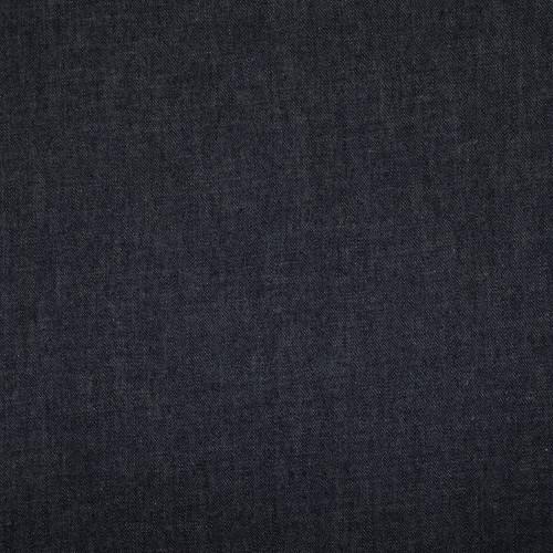 Tissu jean denim chambré bleu marine