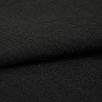 Black chambray denim fabric