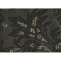 Tissu jacquard noir et or à motif fleurs (2,65 mètres)