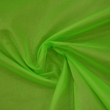 Organdy fabric anise green