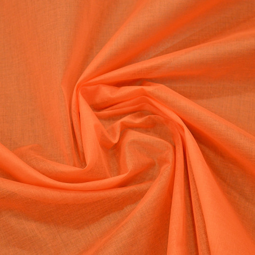 Organdy fabric tangy orange