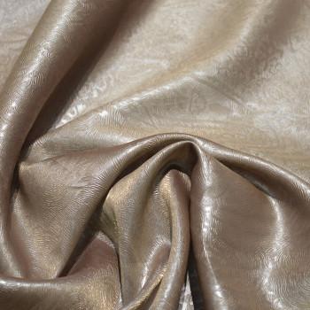 Tissu 100% polyester organza gaufré marron