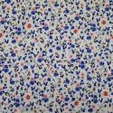 Poplin fabric 100% cotton blue flowers