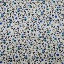 Poplin fabric 100% cotton green flowers